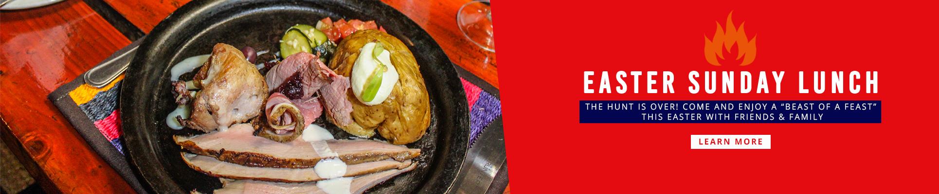 Carnivore Restaurant Easter Sunday Lunch in Muldersdrift Gauteng