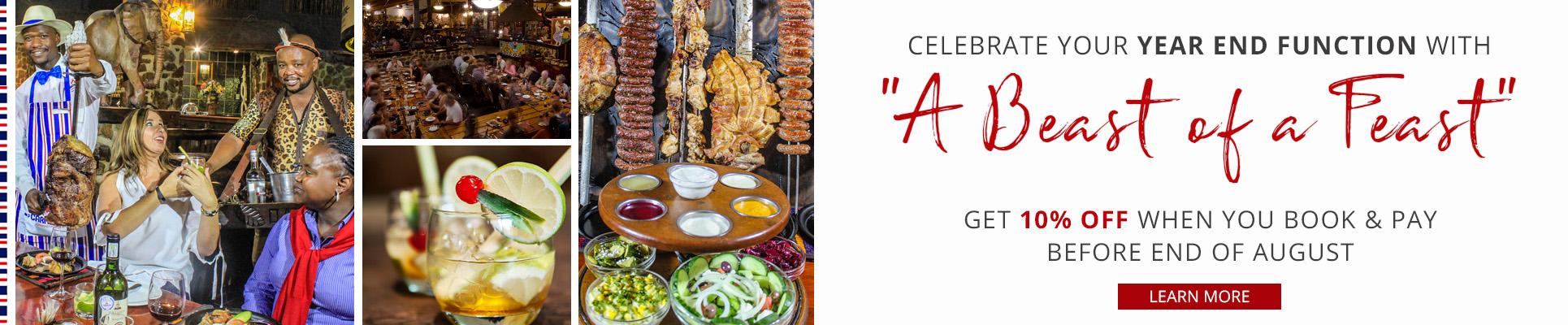 Carnivore Restaurant Year End Functions - Early Bird Specials in Muldersdrift, Gauteng